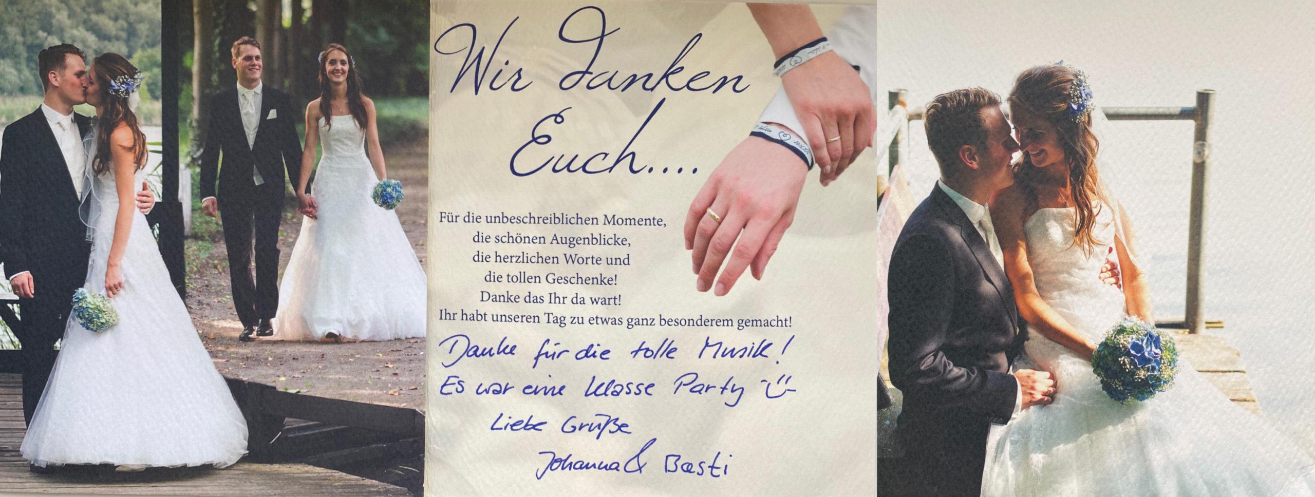 Hochzeit DJ Berlin Referenz Dankesschreiben